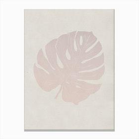 Monstera Rose Canvas Print