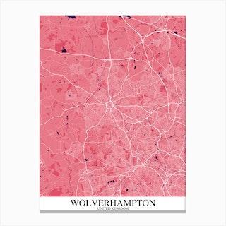 Wolverhampton Pink Purple Canvas Print