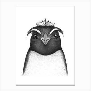 The Queen Penguin Canvas Print