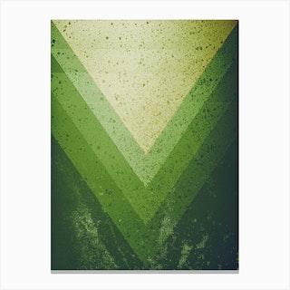 Green Piramid Canvas Print