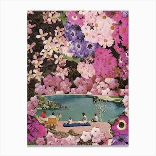 Pink Swimming Pool Canvas Print