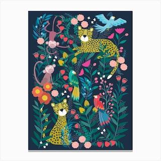 Boho Jungle Canvas Print