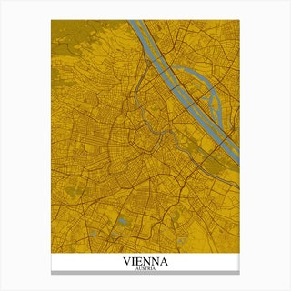 Vienna Yellow Blue Canvas Print