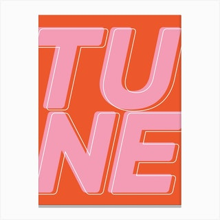 Tune Canvas Print