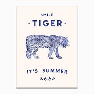 Smile Tiger Canvas Print
