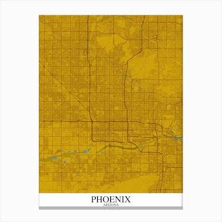 Phoenix Arizona Yellow Blue Canvas Print