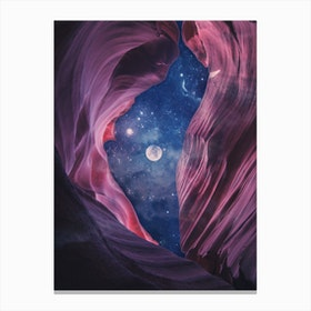 Grand Canyon with Space Collage Canvas Print