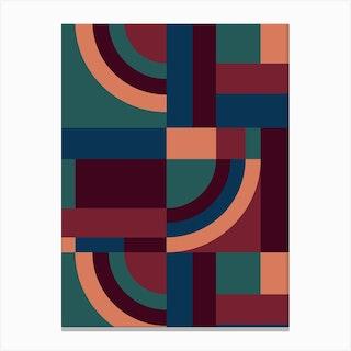 Velvet Blocks Canvas Print