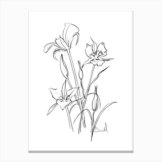 Floral Note Canvas Print