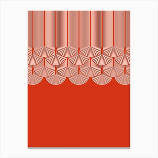 Red Geometry Canvas Print