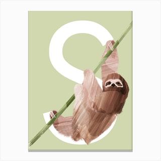 S Sloth Canvas Print
