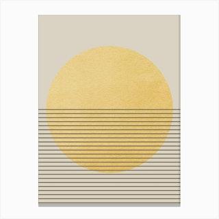 Sun Minimal Canvas Print