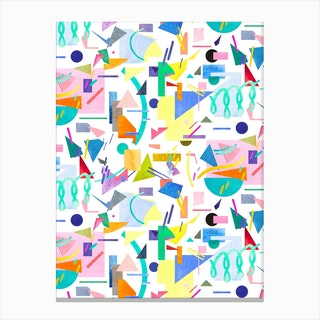 Geometric Collage Pop Canvas Print