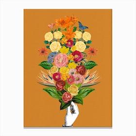 Botanical Yellow Canvas Print