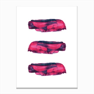Realistic Pink and Purple Paint Strokes Canvas Print