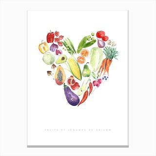 Fruit & Veggies Canvas Print