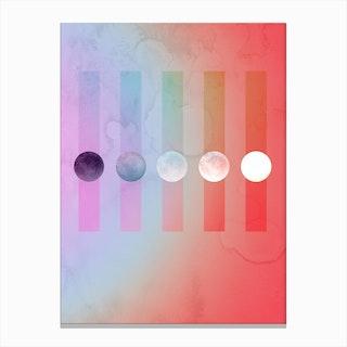 Rainbow Moon Gradient Canvas Print