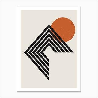 Abstract Geometric Rainbow Two Canvas Print