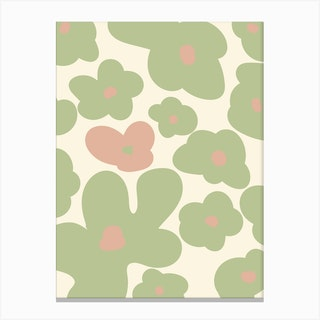 Pink Flower Pattern Canvas Print