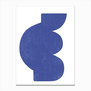 Abstract Blockprint Blue Canvas Print