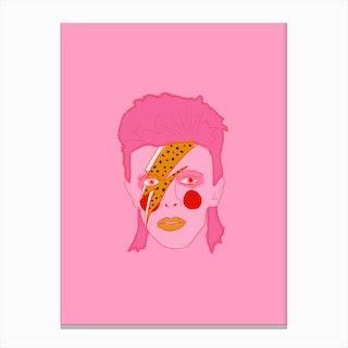 Bowie Illustration Canvas Print
