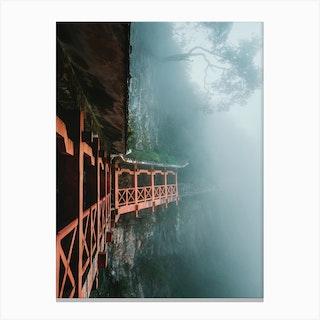 Tianmen Mountain Walkway Canvas Print