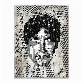 Cube Head Canvas Print