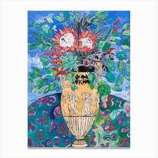 Protea Bouquet In Keats Canvas Print