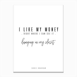 Carrie Bradshaw Quote Canvas Print