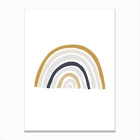 Scandi Nursery Rainbow  Blue, Mustard & Pink Canvas Print