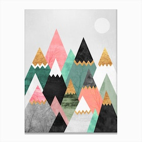 Pretty Mountains Canvas Print