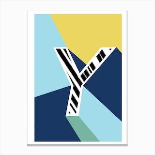 Y Geometric Font Canvas Print