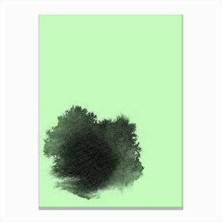 Ink II Green Canvas Print