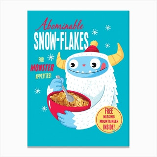 Abominable Snowflakes Canvas Print