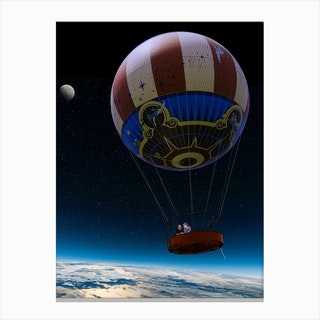 To The Moon And Never Back Canvas Print