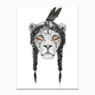 Warrior Lion Canvas Print