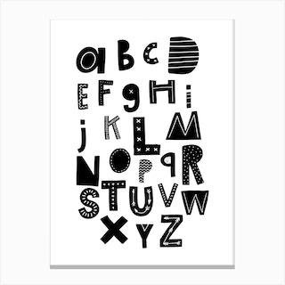 Scandi Alphabet Canvas Print