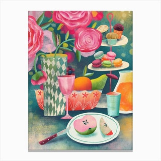 Still Life With Macarons Canvas Print