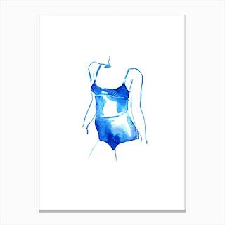 Blue Woman I Canvas Print