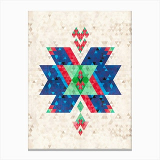 Bohemian Kilim Cross Canvas Print