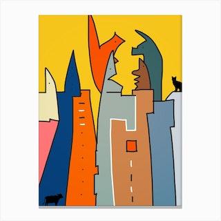 Animal City Canvas Print