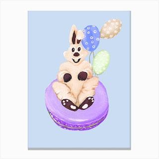 Sweet Easter Macaroons Canvas Print