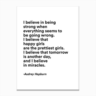 Happy Girls By Audrey In Modern Font Canvas Print