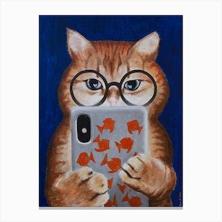 Instagram Cat Canvas Print