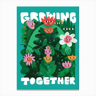 Growing Together Canvas Print