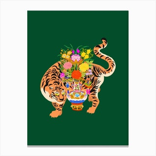 Good Luck Tiger Canvas Print