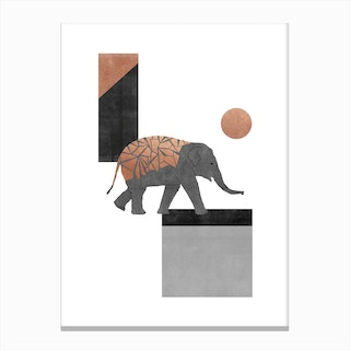 Elephant Mosaic I Canvas Print