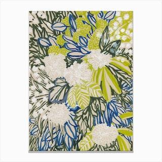 White Chrysantemus Canvas Print