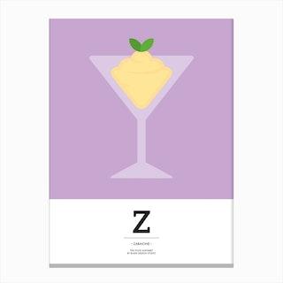 The Food Alphabet – Z Canvas Print