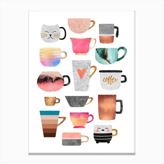 Coffee Cup Collection Canvas Print